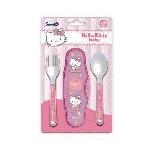 Hello Kitty baba utazó evőeszköz