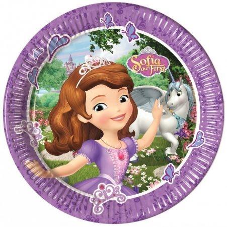 Disney Szófia hercegnő papírtányér (8 db-os)