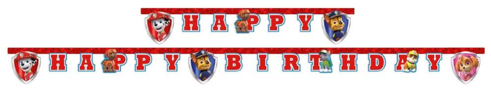 Mancs őrjárat Happy birthday felirat