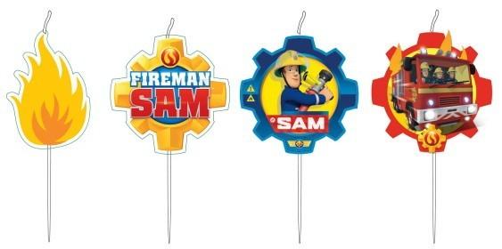 Sam a tűzoltó tortagyertya (4 db-os)